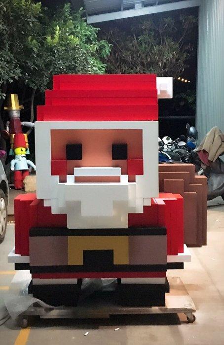聖誕節佈置 聖誕老人 雪人 樂高
