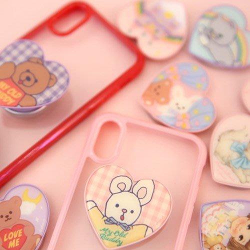 好心情日韓正品雜貨『韓國 afrocat』現貨+預購~ Griptok 愛心造型手機支架 手機扣 (11款)