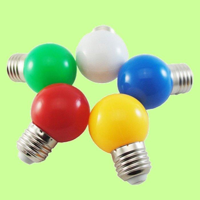 5Cgo【權宇】LED 節能燈泡 G45 彩色燈泡 PC塑膠罩 彩泡燈 摔不爛 球泡燈 E27 寬電壓 含稅會員扣5%