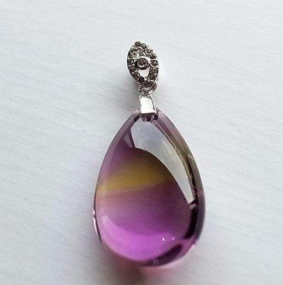 ☆采鑫天然寶石☆**平衡**~~頂級紫黃晶墜~淨˙亮˙透~珍藏款