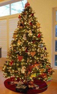 2012年新款2.1米綠色聖誕樹含158款豪華裝飾品,出口尾貨!