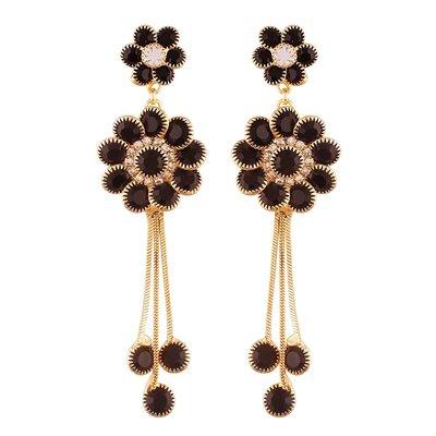 印度舞界 耳環 Gold Plated Designer Chain Earring