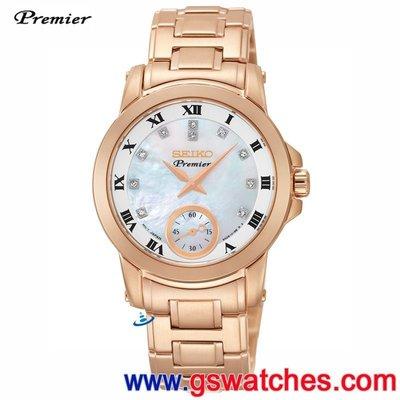 【金響鐘錶】全新SEIKO SRKZ58J1, PREMIER 日本製, 女錶, 6G28-00T0G, 公司貨 台北市