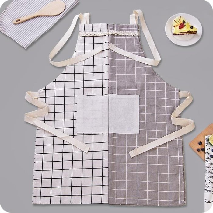 現貨/日式簡約棉麻圍裙男女情侶廚房做飯防油圍腰時尚無袖成人家居罩衣111SP5RL/ 最低促銷價