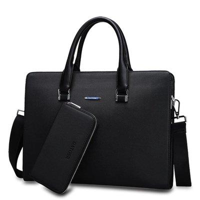 【全館9折】商務包新款男包公文包男士手提包包橫款休閒男式皮包電腦包