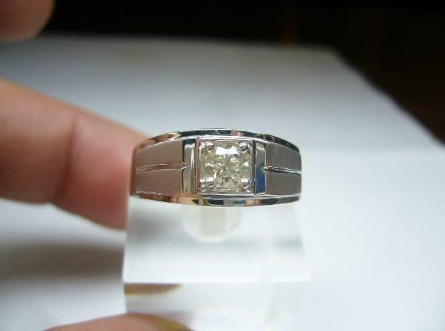 [吉宏精品交流中心]30分 南非天然鑽石 白K金 八心八箭 戒指(男戒)