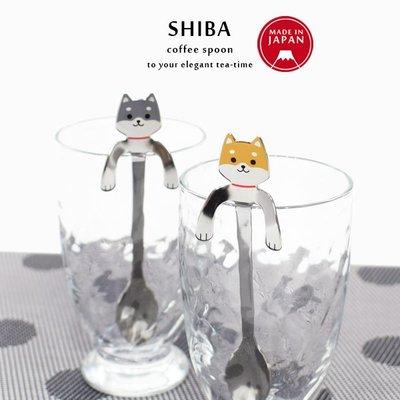 日本製可掛式柴犬不鏽鋼匙羹