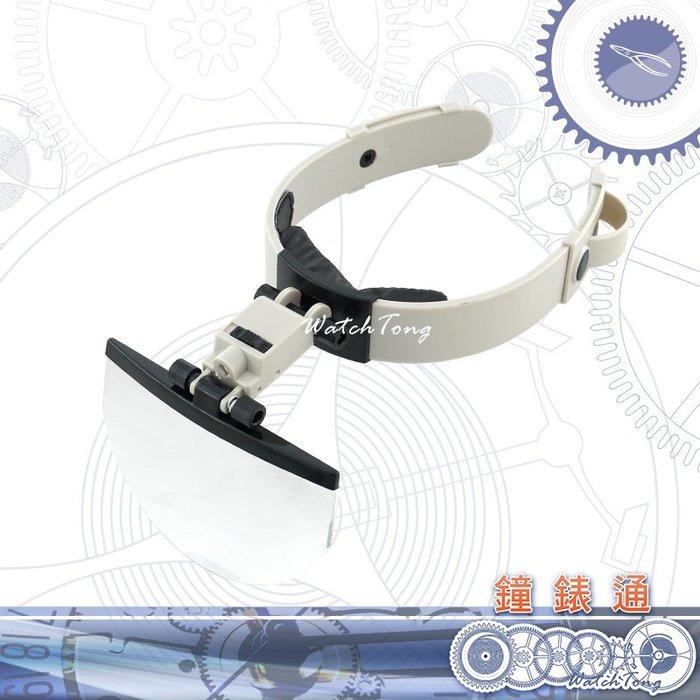 【鐘錶通】09F.2201 LED夾頭式平片放大鏡 2/3.8/4.5/5.5X ├鐘錶工具/手錶工具/微縮模型/造景┤