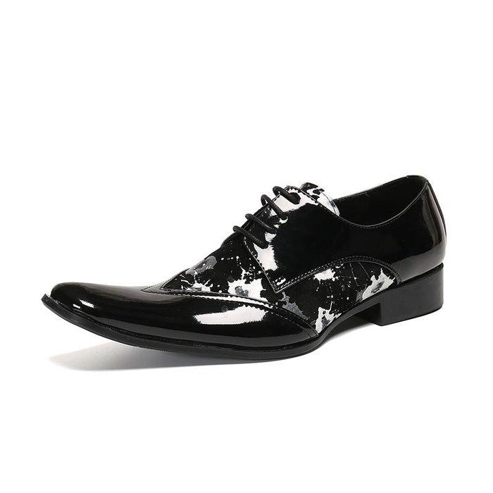 **蛻變英倫**韓國限定版連線熱賣高品質訂製歐美頂級款獨男鞋2020新款春季透氣髮型師鞋子潮流個性休閒鞋夏皮鞋增高繫帶鞋
