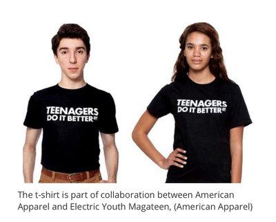 EY! Magazine by American Apparel Teenagers Do It Better黑色 L Teens Do It 白色M 各一件