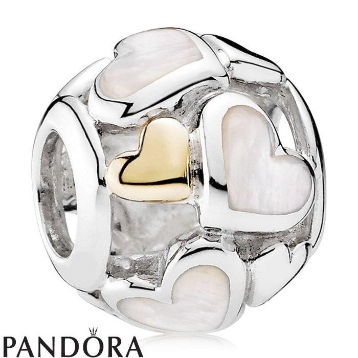 金永珍珠寶鐘錶* 2016最新款 PANDORA 潘朵拉 原廠真品 母親節 14K白色愛心現貨*