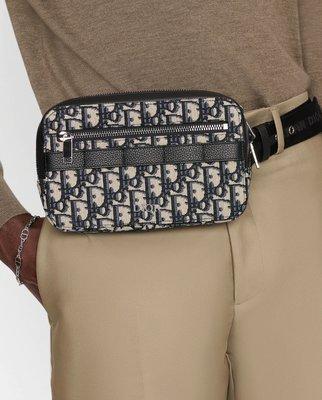 Dior Homme 男仕 中性 Jacquard  Dior monogram 相機包 蒙恬包 腰包 手拿包 側背包