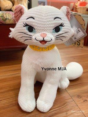 *Yvonne MJA* 美國迪士尼Disney 限定商品 瑪麗貓公爵夫人 針織毛絨娃娃 絕版限量款