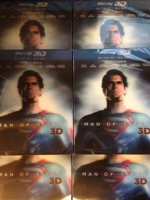 (全新未拆封)超人:鋼鐵英雄 Man Of Steel 3D+2D雙碟版 藍光BD(得利公司貨)限量特價