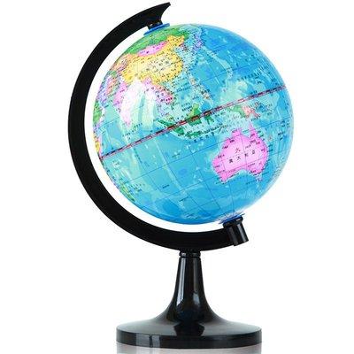 地球儀地球儀學生用小型10.6cm標準教學研究高清 經典中文地形3031哆啦A珍