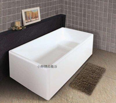 小婷精品衛浴~F-154新款方型薄邊獨立浴缸110 CM 時尚簡約一體成型 另有110~150CM 新款特價優惠