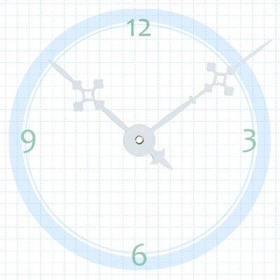 【鐘點站】T082060W SUN機芯專用 白色造型指針 / 分針82mm 時針60mm / DIY 時鐘 掛鐘 鐘針