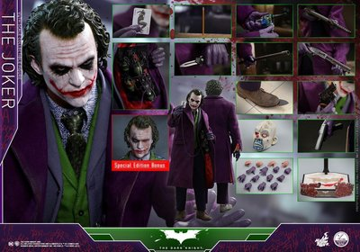 全新 HOT TOYS 1/4 小丑 雙頭雕 特別版 QS010 限定版 蝙蝠俠 黑暗騎士 JOKER 1:4