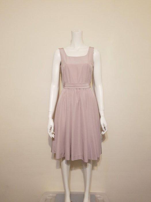 日本香奈兒CLATHAS 藕粉色經典綁帶洋裝 38號(M)
