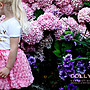 【Nicholes歐美進口優質童裝】荷蘭DOLLY粉色玫瑰花瓣精靈氣質小短裙/派對/生日/發表會/花童 現貨