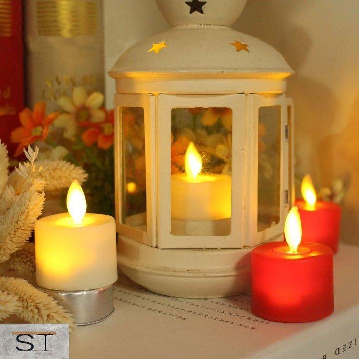 【松鐵工藝家居】現貨 一套6入 搖擺茶蠟燈led電子蠟燭仿真蠟燭表白婚慶引路酒吧派對裝飾小電子 餐廳咖啡廳