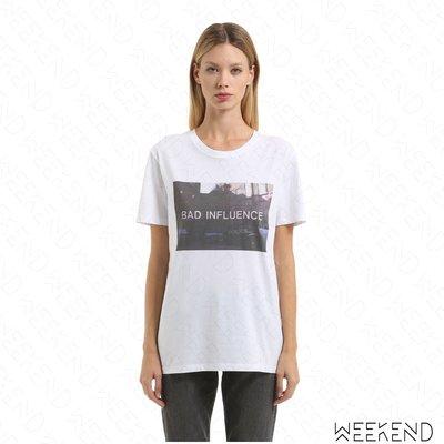 【WEEKEND】 NASASEASONS Bad Influence 短袖 T恤 白色