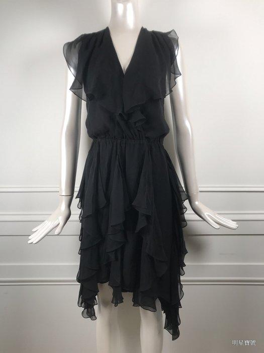 [我是寶琪] THOMAS WYLDE 黑色雪紡洋裝
