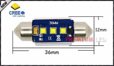 (1pc)解碼 Canbus 6000K CREE Led C5W festoon 36mm 39mm 41mm 超亮白 X-BD 晶片 雙尖 室內燈 牌照燈
