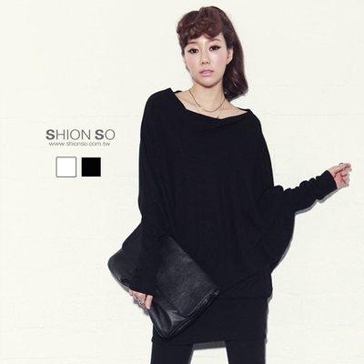 享瘦衣身中大尺碼【B1084】不規格連袖造型長版上衣&洋裝