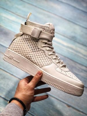 D-BOX  Nike Special Field SF AF1 Mid 機能 空軍 拉鏈 縷空 白色 高筒 休閒鞋