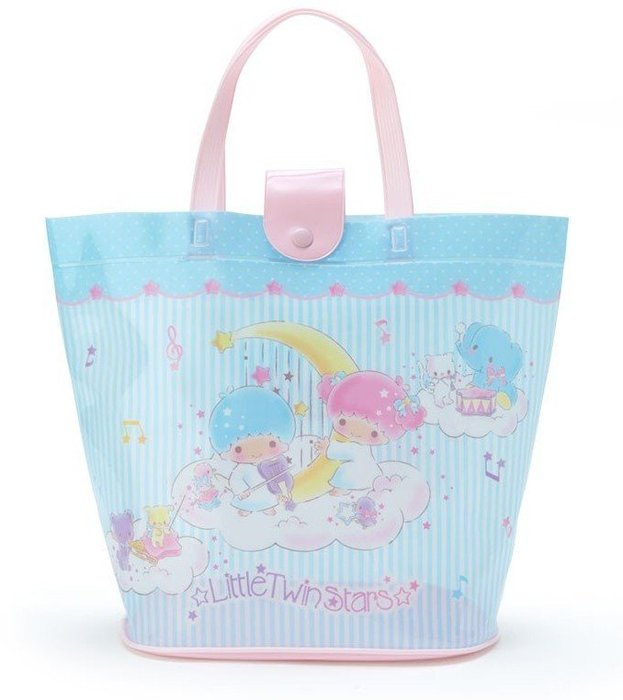 ☆╮Darling Baby ☆附按扣手提袋/游泳袋 雙子星(音符)