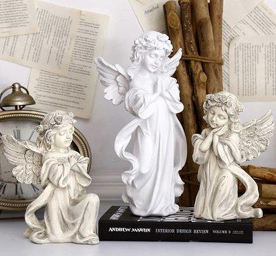 Angel 歐美風唯美浪漫擺飾 可愛翅膀小天使 祈禱 禱告 少女祈禱 復古白人像裝飾 美術素描仿石膏像 民宿家居婚布布置