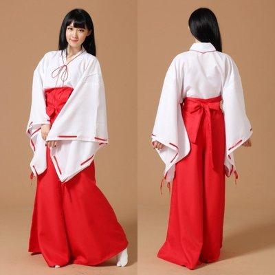 聖誕節 動漫犬夜叉COSPLAY服裝 桔梗COS服和服 日本巫女服—莎芭 S-XL