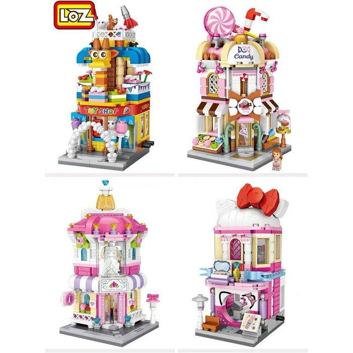 迷你積木~新款現貨~LOZ商店街景~鑽石顆粒~松鼠堅果店~遊戲店~玩具店~糖果店~專用收藏盒  #小兄弟&雜貨鋪# gujh 7845