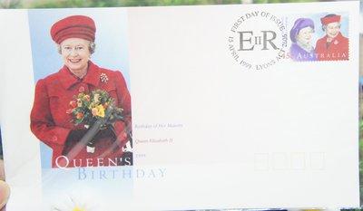 (全新) 1999年-澳洲-Queen's Birthday -首日封