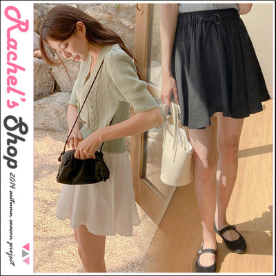 韓國空運*cherrykoko青春少女 不規則澎澎下襬迷你裙(內有襯褲)[CK-CB04HWSK2]Rachel's Shop