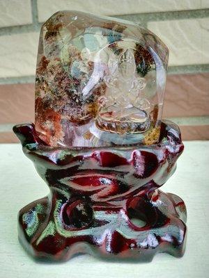 ..超清透頂級品.四季彩幽靈天然水晶手工巧雕擺件..桌上型擺設美品..現貨一物一圖..便宜賣..一律免運費.