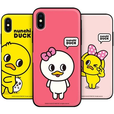 Nunchi Duck 防摔側開卡夾 手機殼│iPhone 6 6S 7 8 Plus│z9028