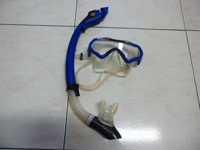 紫色小館18-----二手U.S.DIVERS面鏡+蛙鞋+呼吸管共3樣