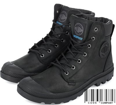 =CodE= PALLADIUM PAMPA CUFF WP LUX 防水皮革軍靴(全黑)73231-060 英倫 男