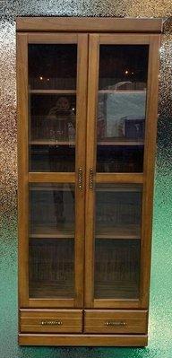 樂居二手傢俱館 全新家具超低價LC113DB16*全新德意樟木下兩抽書櫃*實木書架/玻璃展示櫃/酒櫃/高低櫃/收納櫃