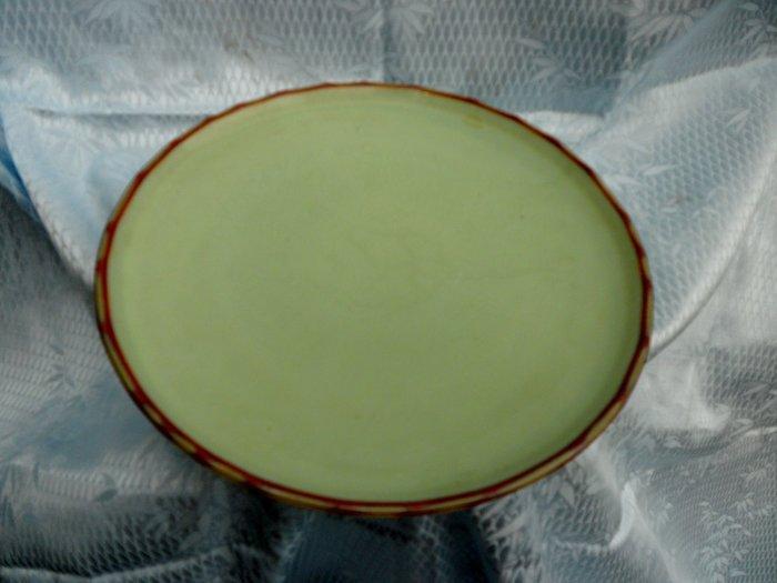 紫色小館4-----日據時代青綠色盤子(直徑23公分)