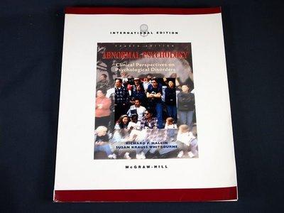 【考試院二手書】《ABNORMAL PSYCHOLOGY》│McGRAW HILL出版│RICHARD P.HALGIN│九成新(22Z43)