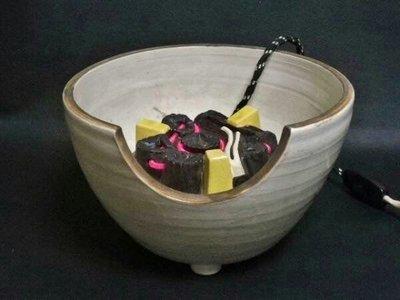 日本茶道具 五陶 野々田式風爐型 炭型電熱器