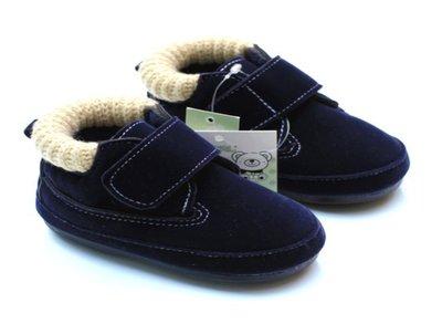 寶貝倉庫~軟膠底~時尙藍保暖鞋~學步鞋...