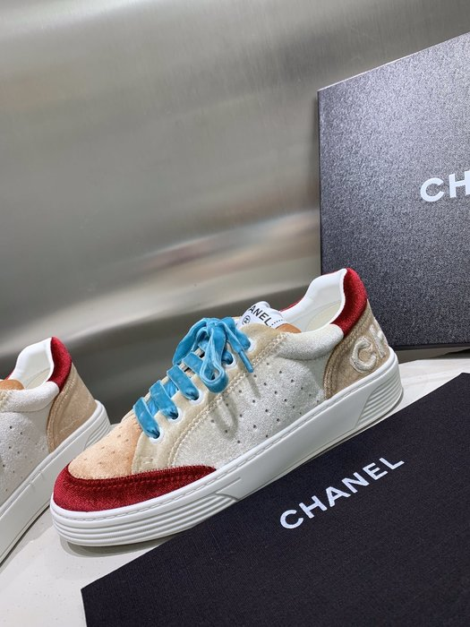 CHN*2020小香家休閑鞋運動鞋 經典絲絨新配色復古時尚滑板鞋平底鞋