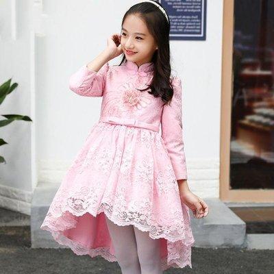 女童禮服裙 新款小主持人晚禮服秋冬裝演出蓬蓬公主裙 CC4189