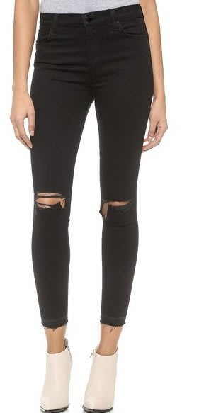 ◎美國代買◎J Brand High Rise Alana Crop Jeans雙膝刷破高腰包覆合身七分款