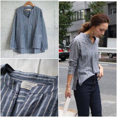 【預購】日本連線TODAYFUL夏2017新入荷Stripe Gauze Shirts柔軟條紋紗布棉V領襯衫上衣KBF