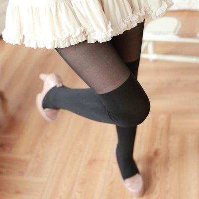 春秋中厚假高筒連褲襪日系假大腿絲襪假長筒過膝襪防勾絲打底襪子